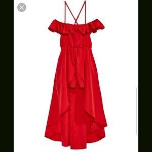 Sequin hearts amazing  red hi low romper dress